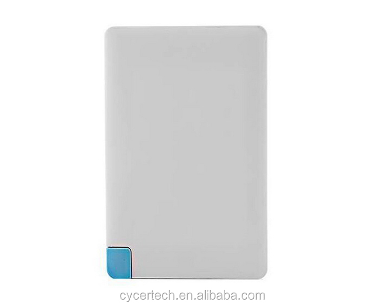2017 best selling ultra slim 2500mah name card power bank