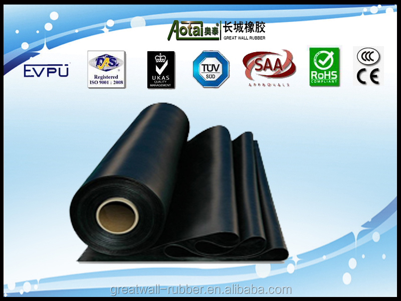 Great Wall 4mm thickness both sides smooth SBR rubber sheet