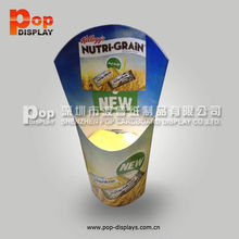 pop up retail cardboard floor display stands custom design for chocolates glossy lamination