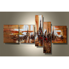 JC Abstract Wall Art Home Decoration 5 Pieces Handmade Oil Painting On Canvas HP-51