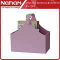 NAHAM exquisite Purple PVC Leather Foldable Basket With Handle