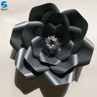 Artificial paper flower wall black roses fresh black orchid rose flower bushes for sale