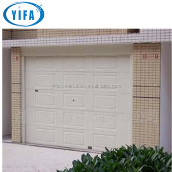 sectional garage door with hardware