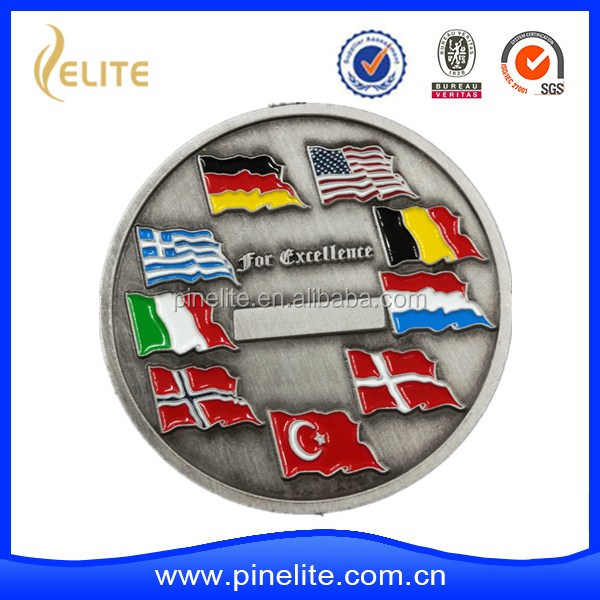 High quality Metal Enamel Commemorative coin