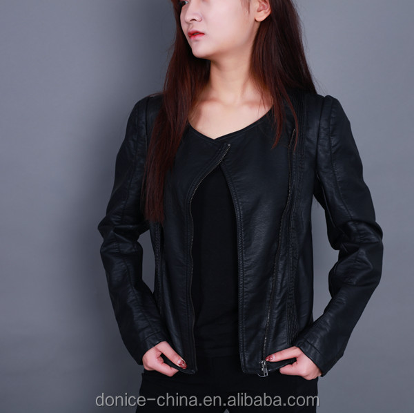 Girls PU leather jacket women faux leather jacket manufacturers