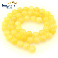 Gemstone loose strand size 6 8 10 12mm yellow natural jade rough stone