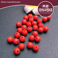 wholesale solid color bead coral beads for jewelry decorations