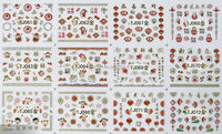 Adorable Nail Art 3D Stickers Decals - Mickey / Hello Kitty /Snoopy /Owl / Tom & Jerry / Disney Princess /etc. Variety Pack of 8