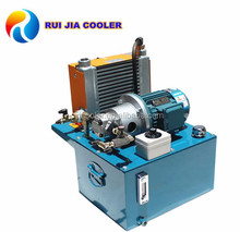 Hydraulic power system for lubrication oil bearing unit cooling