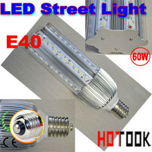 E40 60W LED Street Light Road Bulb Lamp garden lamp 85-256V 60 LEDS Light warranty 2 years CE & RoHS