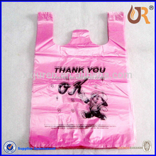 Pink Thank You Design T- thirt Plastic Bag