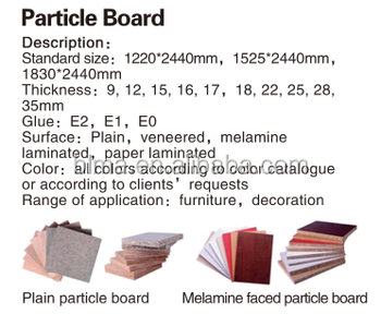 18mm melamine particle board