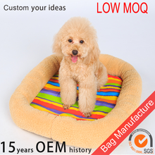 2016 hot selling Eco-friendly rainbow-stripe pet beds for small animals