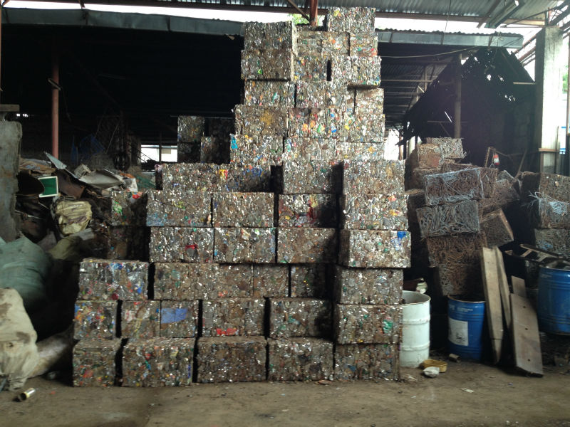 baled tin cans, baled g.i. sheets