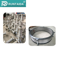Tie rods control flange end metallic expansion joints