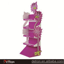 beautiful special 4 tiers pink carboard display stand