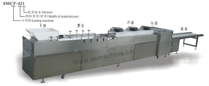 2015 latest popcorn candy cutting machine product line, sticky candy cutting machine for breakfast