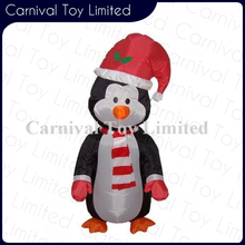 Good quality Oxford cloth inflatable snowman santa claus for Christmas decoration