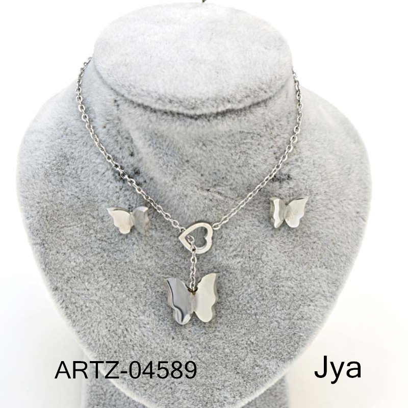 silver jewellery earrings with necklace hot sell jewelry set 2017