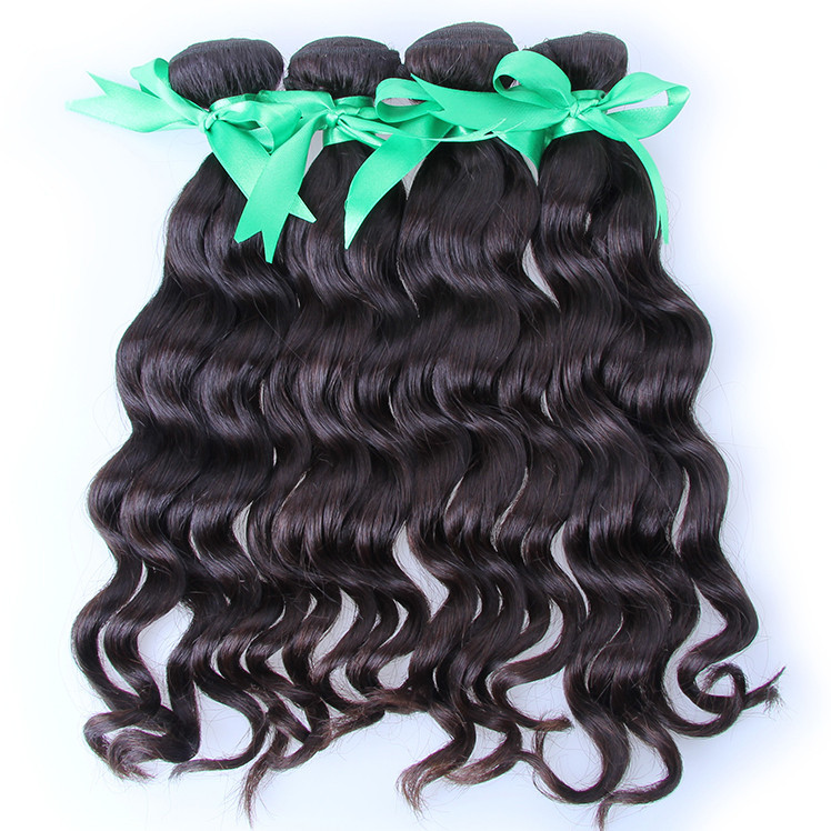 Brazilian Hair Products full cuticles aligned 6A Quality Natural Wavy weave bundles original Brazilian virgin Hair accept sample