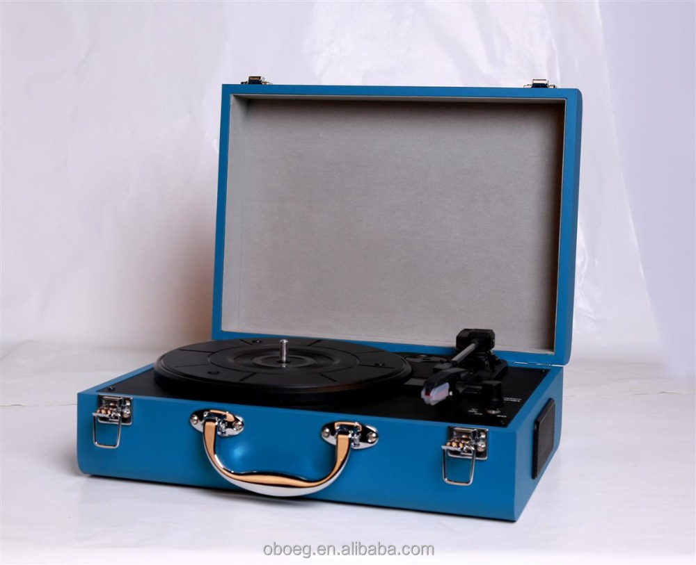 High quality 3 speed vinyl converting to MP3 nostalgic turntable player