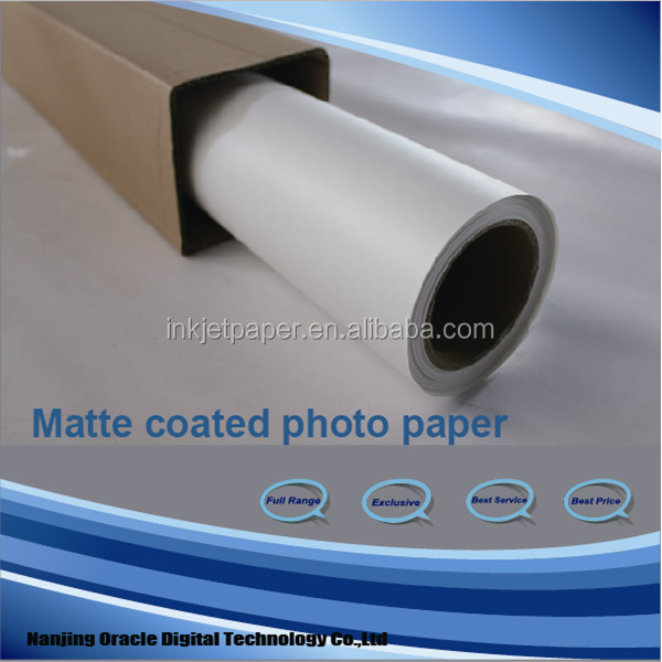 roll matte cotaed paper,wide format printing paper