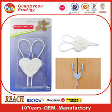 plastic baby safety heart shape lock
