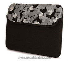 Computer case flap with sumo print waterproof neoprene laptop bag