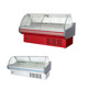 supermarket fresh meat showcases /refrigerator and freezer display cooler