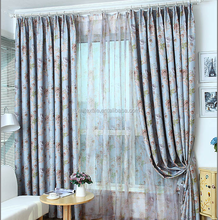 Countryside style garden floral fabric curtain with exquisite jacquard