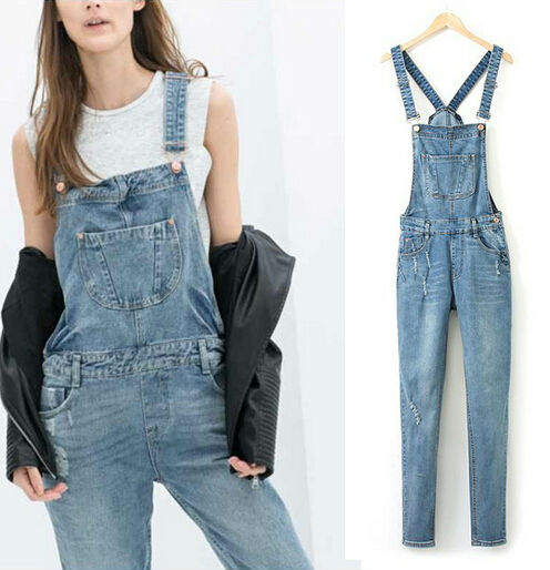 Z60862w europea fashion ladies denim overalls