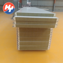 Polyurethane sealing rockwool sandwich wall panel house price