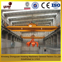 overhead crane with grab widely used in loading goods port factory workshop power plant