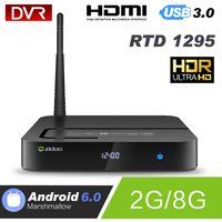 Android TV Box ZIDOO X8 Realtek RTD1295 A53 T820(3-core) Android 6.0 Quad Core 2G/8G Dual Band WIFI1000Mbps LAN HDR BT4.0 Player