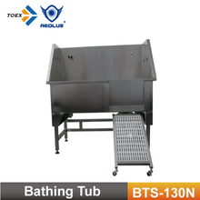 Stainless Steel Pet Bathing Tub with Swing in/out Ramp BTS-130N