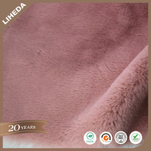 WINTAI 100% Polyester Fluffy Faux Rabbit Fur Fabric For Coat
