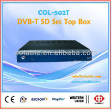 STB,DVB-T SD Set Top Box,digital analog tv decoderCOL502T