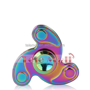 2017 trend design LED Hand spinner finger toys fidget spinner rainbow