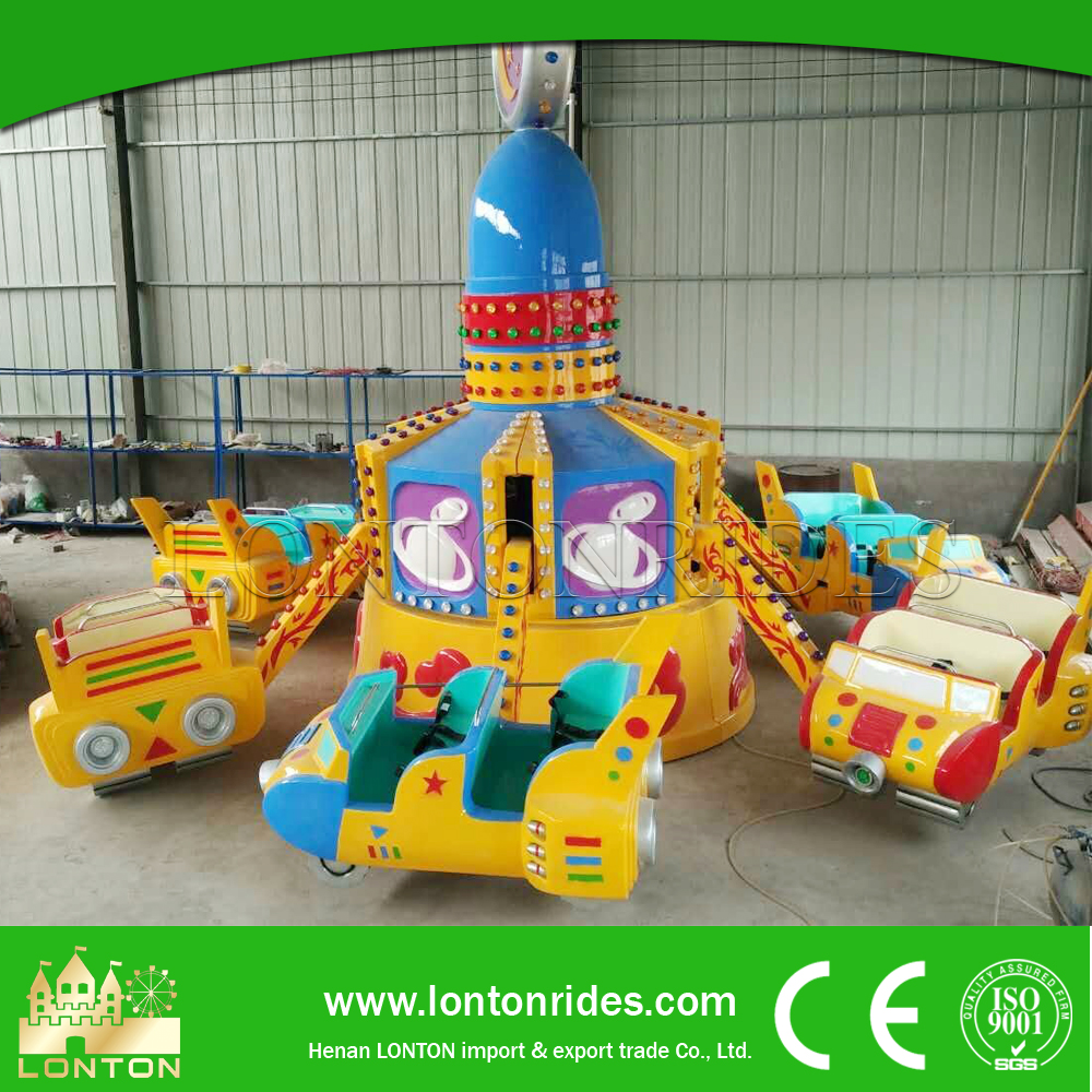 Kids attractive outdoor playground electric car bouncing car/jumping car for sale