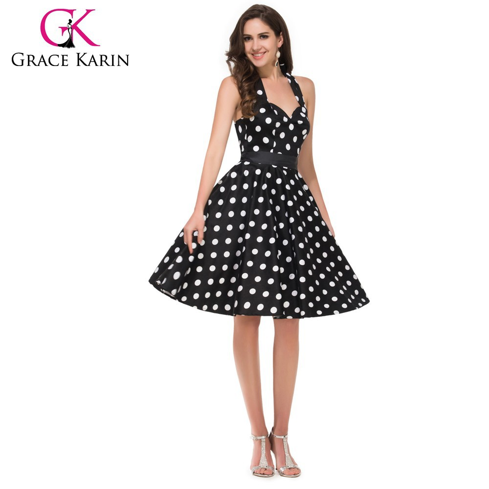 grace karin retro style cotton 50s polka dots dress 1950s vintage dresses cl4599 1 buy polka. Black Bedroom Furniture Sets. Home Design Ideas