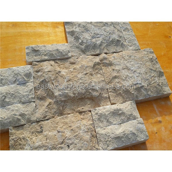 Grey limestone of mushroom stone for exterior wall decoration
