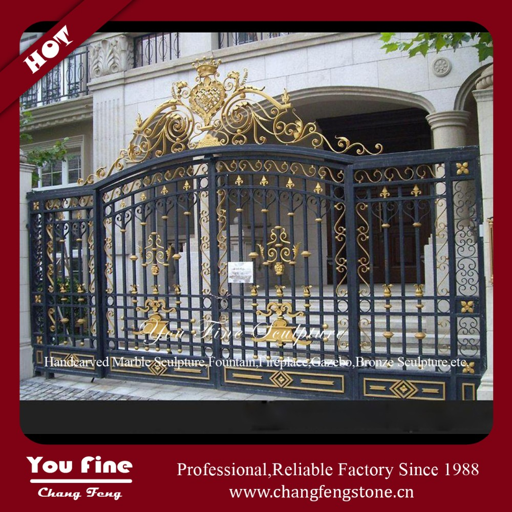 Modern Horse Used Craft Forged Iron Gate
