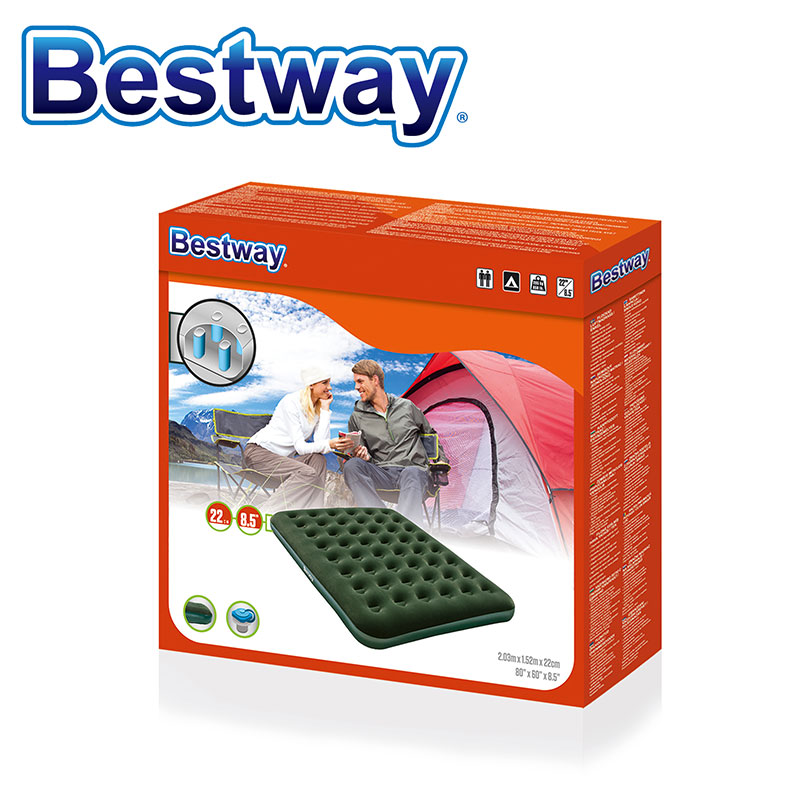 "Bestway 73""x30""x8.5"" Flocked Inflatable Single Air Bed Mattress"