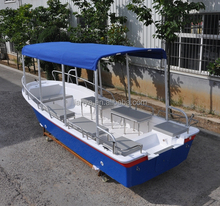 Liya fiberglass passenger tour boat 5.8m sightseeing boat for sale