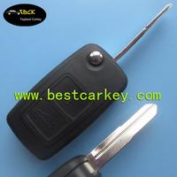 Good quality 2 button car remotek ey shell woth folding blade for Chery key shell