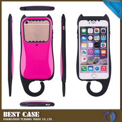 Korea style Triple Layer Protective Hybrid TPU Cute Case for iPhone6 with Hook