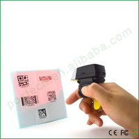FS02 Long range wireless barcode scanner finger ring 2D qr code scanner for Iphone IOS