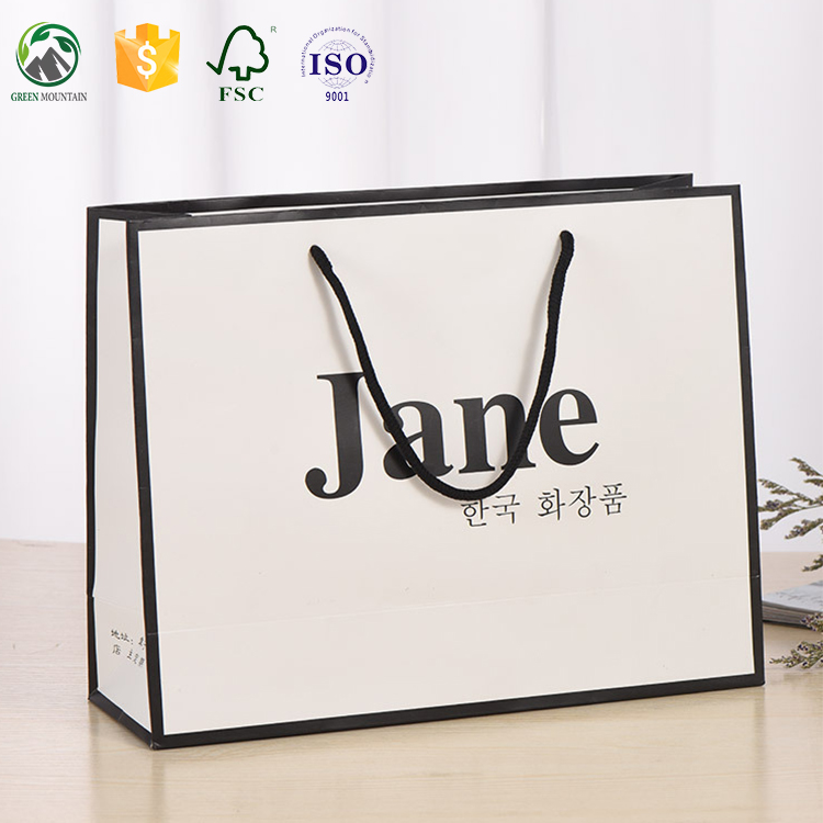 Wholesale paper shopping bags /paper merchandise bags/carrier bags with logo print