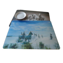 Custom Clear Plastic Table Mat, 3D Lenticular Placemat, kids cartoon placemat