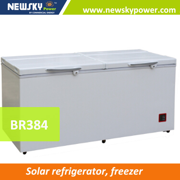 used commercial battery power 12 volt dc solar ice cream freezer